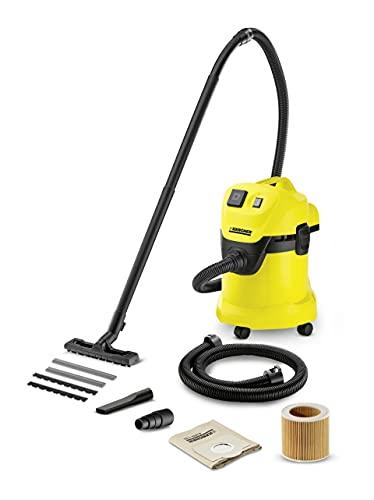 Kärcher Mehrzwecksauger WD 3 P Extension Kit (Behältergröße: 17 l, Tatsächliche Saugleistung: 200 Air Watt, 1,5 m Verlängerungsschlauch, Steckdose,...