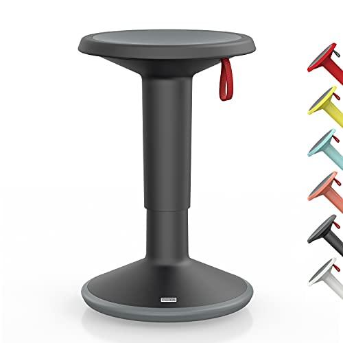 Interstuhl UPis1 – ergonomischer Sitzhocker mit Schwingeffekt – für einen geraden Rücken Made in Germany – inkl. 10 Jahren Garantie (Schwarz, Standard...