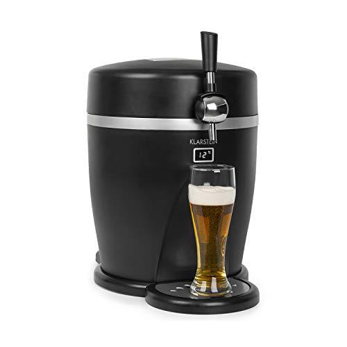 Klarstein Tap2Go mobile 2-in-1 Bierzapfanlage mit Getränkekühler, für 5l Fässer, 13l Kühlschrank, Zuhause und im Auto verwendbar, Kühltemperaturen: bis zu...