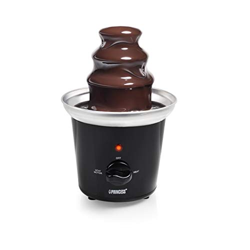 Princess 292994 Schokoladenbrunnen (für jede Schokolade und Karamell mit Schmelz- und Fließfunktion, 32 Watt, 0,95 m Kabelzuleitung)