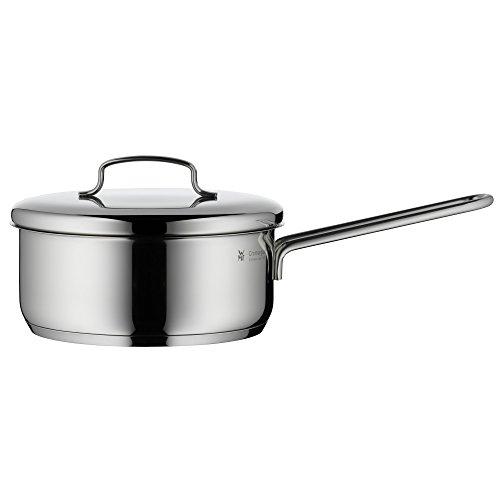 WMF Mini Stielkasserolle, 16 cm, klein, Metalldeckel, Kochtopf 1,2l, kleiner Topf für Singlehaushalt, Cromargan Edelstahl poliert, Induktion, stapelbar, ideal für...