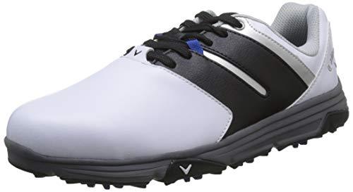 Callaway Herren Chev Mission Waterproofs Golfschuhe, Weiß White/Black, 44 EU