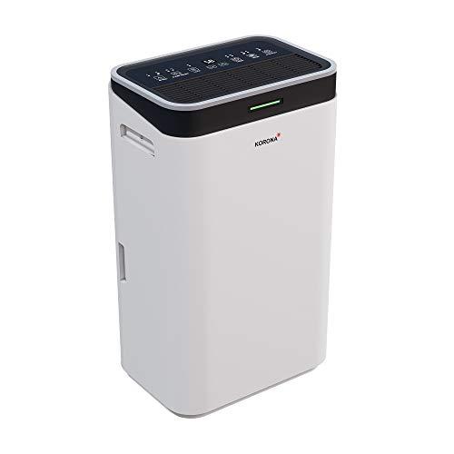 Korona 82100 Luftentfeuchter | Entfeuchtungskapazität von 20L /Tag | Entfeuchtet Räume bis 30 m² | Wäschetrocknungsfunktion | Timer | LED-Display &...