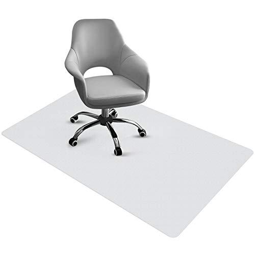 Bodenschutzmatte Bürostuhl Unterlage PVC Schreibtischunterlage Transparent Büro Computer Schützen rutschfest Haltbar 90 cm x 120 cm Perfekt für Hartboden Büro...