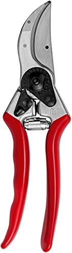 FELCO 2 Gartenschere (Schnitt-ø 25 mm, Baumschere für große Hände, Länge 215 mm, Rebschere mit Saftrille, ergonomische Griffe)