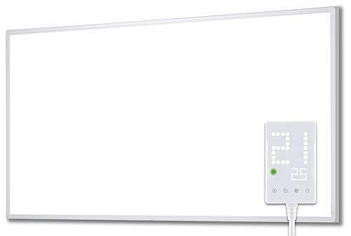 Heidenfeld Infrarotheizung HF-HP100 1000 Watt Weiß - inkl. Thermostat - 10 Jahre Garantie - Deutsche Qualitätsmarke - TÜV GS - 1000 Watt - 15-25 m² (HF-HP100...