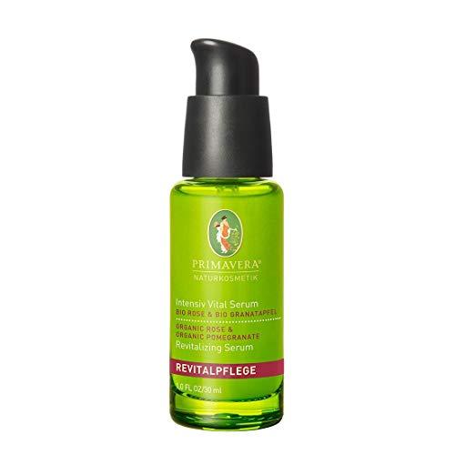 PRIMAVERA Revital Care Intensive Vital Serum Rose Granaattiomena 30 ml - luonnonkosmetiikka - kiinteyttävä ja elvyttävä vaikutus kypsälle iholle - vegaani -