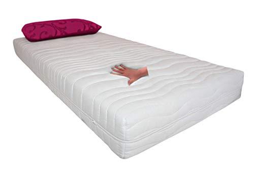Gel Gelschaum Matratze druckentlastende Gelmatratze Höhe 20 cm, 8 cm Gelschaum, Memory Schaum, Raumgewicht RG 85 soft / weich = Schlafen wie auf dem Wasserbett ohne...