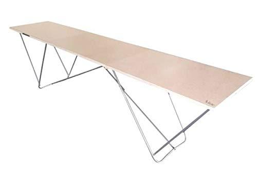 Nespoli Tapeziertisch 300 x 60 x 72 cm Mehrzwecktisch Klapptisch Holztisch