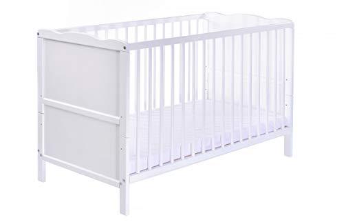 Kinderbett | Gitterbett |'NELE' | WEISS | umbaubar zum Juniorbett