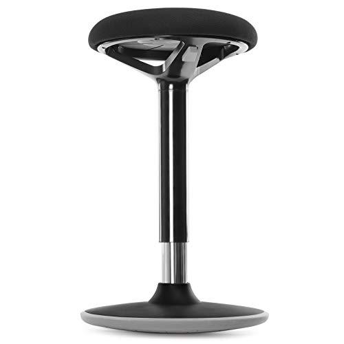 SONGMICS Bürohocker, ergonomischer Arbeitshocker, Sitzhocker, 360° Drehstuhl, höhenverstellbar 55-70 cm, Keine Montage erforderlich, fürs Büro und...