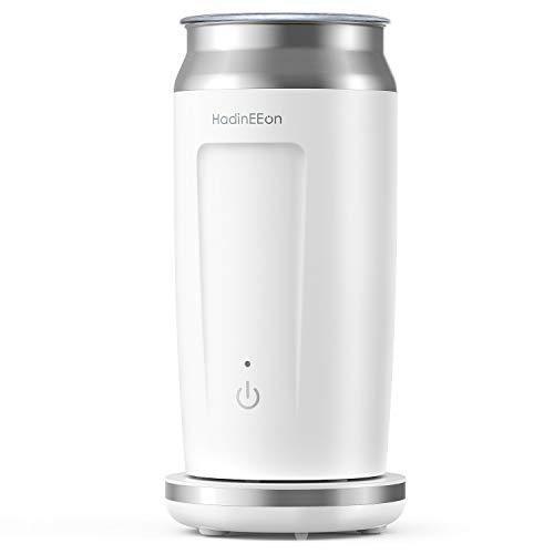HadinEEon elektrischer Milchaufschäumer 4 in 1 Edelstahl Automatischer Milchschäumer Erhitzen und Aufschäumen für heiße und kalte Milch Bedienung auf...