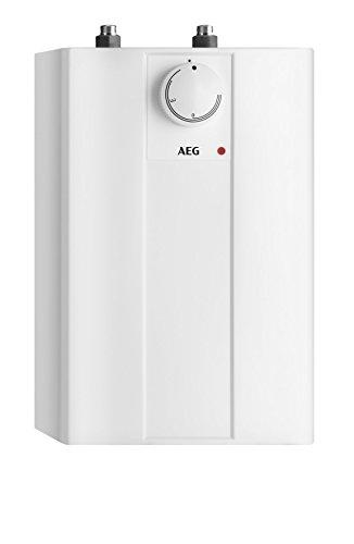 AEG Haustechnik 222162 druckloser Kleinspeicher Huz 5 Basis, 5l, 2 kW, Untertisch, Steckerfertig, stufenlose Temperaturwahl von ca. 35-85 °C, 5 Liter