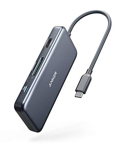 Anker USB-C-Hub, PowerExpand+ 7-in-1 USB-C-Hub-Adapter, mit 4K HDMI, Stromversorgung, USB-C-Datenanschluss, microSD- und SD-Kartenleser, 2 USB-3.0-Anschlüsse, für...