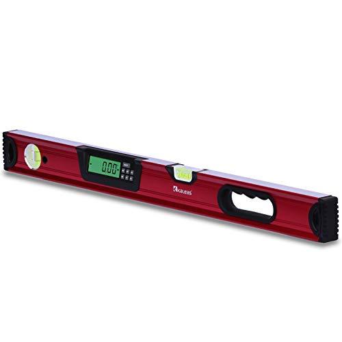 Kaleas Professional Digitale Wasserwaage 70cm, elektronischer Neigungsmesser, Präzisions Libellen 0.4mm/m, Hightech Sensor ±0,05°, Handgriff, Aluminium Profil,...