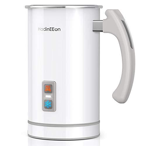 HadinEEon Milchaufschäumer 500ml 650w elektrisch Milchaufschäumer Edelstahl Automatischer Milchschäumer Erhitzen und Aufschäumen für heiße und kalte Milch