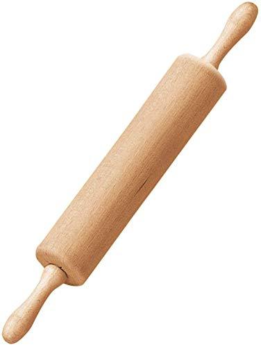 Dr. Oetker Teigroller mit Metallachse, Nudelholz als Backzubehör, Backrolle aus Buchenholz zum Teigrollen - stabil & langlebig (Maße: Ø 6,3 x 44 cm), Menge: 1...