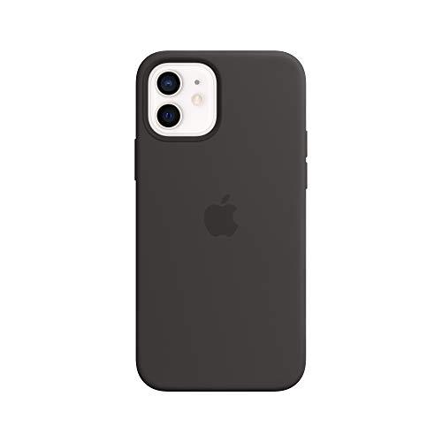 Apple SilikonCase mit MagSafe (für iPhone 12 | 12 Pro) - Schwarz