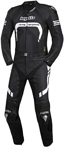 Bogotto Assen 2-Teiler Motorrad Lederkombi 52 Schwarz/Weiß