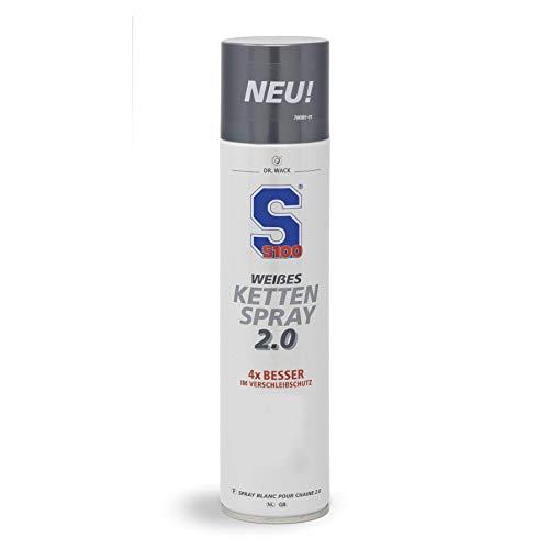 Dr. Wack - S100 Weißes Kettenspray 2.0 400 ml I Premium Motorrad-Kettenöl für noch weniger Reibung & Verschleiß I Kettenspray für alle Motorräder I Hochwertige...