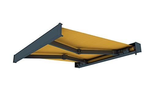 paramondo cassette awning line, 3,5 x 3 m, frame: anthracite, fabric: uni, yellow