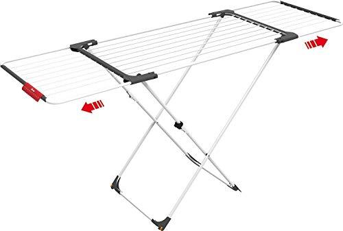 Vileda Surprise Wäscheständer, Stahl, Aluminium, weiß, 62 x 12.5 x 133 cm