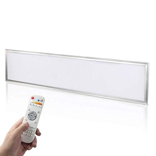 Yorbay LED Panel Set 120x30cm 40W Farbtemperatur einstellbar(3000K-6000K) dimmbar Deckenleuchte Pendelleuchte mit Fernbedienung, Befestigungsmaterial und LED...