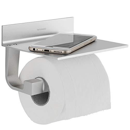 Wangel-WC-paperipidike ilman porausta, patentoitua liimaa + itseliimautuvaa, alumiinia, mattapintaista