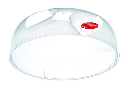 Heidrun Mikrowellen-Abdeckhaube, Ø 30 cm Höhe 10 cm, Kunststoff, transparent, 30 x 30 x 10 cm