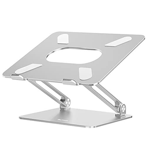 BoYata Laptop Ständer, Aluminium Höhenverstellbarer Belüfteter Laptophalter, Notebook Stand Kompatibel für Laptop (10-17 Zoll) MacBook, Dell, Lenovo, Samsung,...