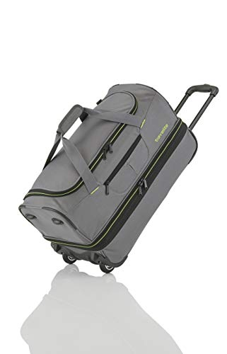 travelite 2-wheel trolley travel bag Gr. S with expansion fold, luggage series BASICS: soft luggage travel bag with wheels with extra volume, 096275-04, 55 cm, 51 liters ...