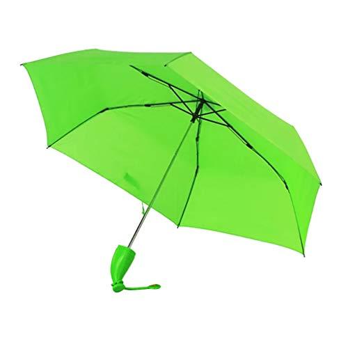 Regenschirm Kinder-Regenschirm Windproof Sturmfest Nylon Umbrella Wasserabweisend Leicht, Taschenschirm Stabil 6 Rippen Banana Form Griff, Regenschirm mit Heller...
