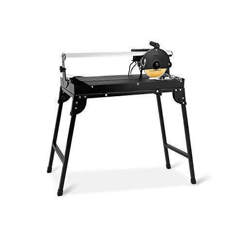 EBERTH Fliesenschneidemaschine Nassschneider (620mm Schnittlänge, 800 Watt Leistung, elektrisch, stufenlos schwenkbar bis 45°, 30 mm Schnitttiefe, Winkelanschlag,...