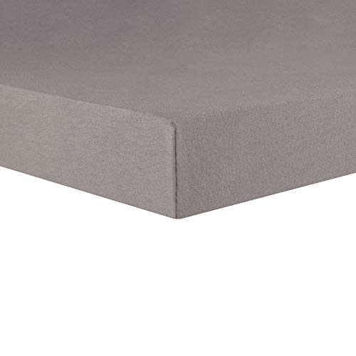 CelinaTex Lucina Topper Spannbettlaken 180x200-200x200 dunkel grau Baumwolle Spannbetttuch