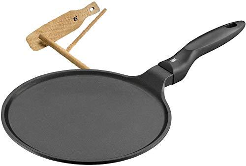 WMF Devil Crepe Pfanne 27 cm, Induktion, Aluguss beschichtet, Pfannkuchenpfanne mit Teigverteiler und Holzschaufel