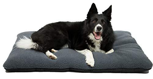 ZOLLNER Hundebett Hundekissen 70x100 cm, waschbar, grau, Antirutschnoppen