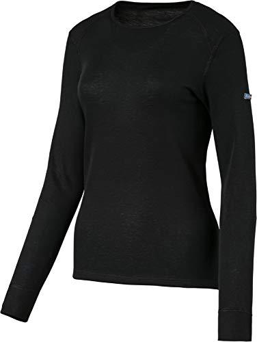 Odlo Damen Funktionsunterwäsche Langarm Crew Neck Warm,schwarz(schwarz),L