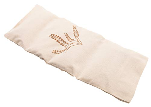 ZOLLNER24 Körnerkissen, 20x53 cm, abnehmbarer Bezug aus 100% Baumwolle, natur