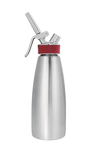 iSi Sahnespender 1 Liter / 1L, Gourmet Whip Plus, aus hochwertigem Edelstahl, Betrieb mit iSi Sahnekapseln, für Sahne, warme und kalte Saucen, Suppen, Espumas und...