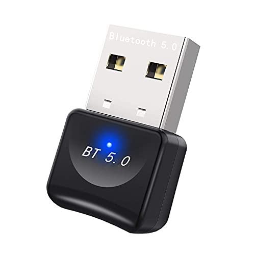Bluetooth 5.0 USB Adapter,Bluetooth Stick,USB Bluetooth 5.0 Adapter für PC Mini Bluetooth V5.0 Transmitter und Empfänger Unterstützt Windows 10/8.1/8/7 für PC...