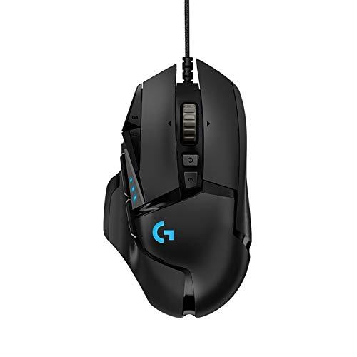 Logitech G502 HERO Gaming-Maus (mit HERO Sensor, RGB, 16.000 DPI, 11 programmierbare Tasten, Laptop- und PC-Computermaus, 5 anpassbare Gewichte, Balance-Tuning,...