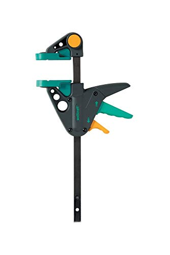 Wolfcraft EHZ 65-150 Einhandzwinge PRO 3456000 / Kraftvolle Zwinge für professionelle Arbeiten zum Spannen von Werkstücken mit nur einer Hand / Spannkraft: 90 kg -...