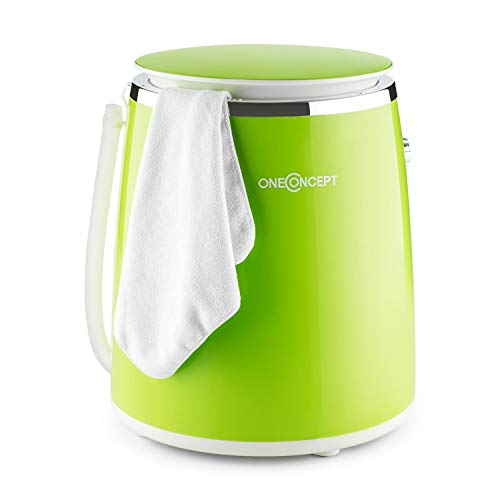 oneConcept Ecowash-Pico Edition 2020 mini washing machine Camping washing machine (top loader with spin function for 3,5 kg laundry, 380 watts, energy and ...