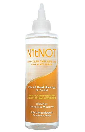 NitNOT Kopfläuse-Behandlung - Tötet alle Kopfläuse und Eier - XL200ml - Mindestens 4 Behandlungen für langes Haar - Sicher - Keine Nebenwirkungen - Einfache...
