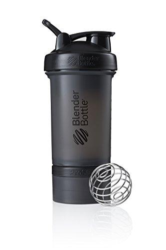 BlenderBottle ProStak Protein Shaker mit BlenderBall mit 2 Container 150ml und 100ml, 1 Pillenfach, optimal für Eiweiß, Diät und Fitness Shakes, skaliert bis...