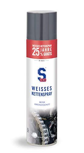 Dr. Wack - S100 Weißes Kettenspray +25% gratis, 500ml I Premium Motorrad-Kettenöl für weniger Reibung & Verschleiß I Für alle Motorräder geeignet I Hochwertige...