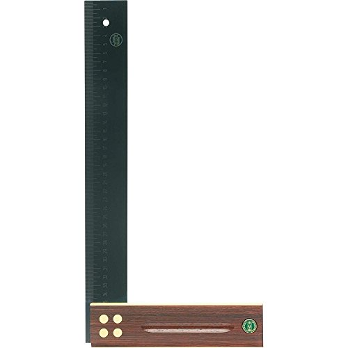 E. C. EMMERICH GMBH + CO. KG 409 Präzisionswinkel L.350mm Palisanderholz gelaserte mm-Skala ECE