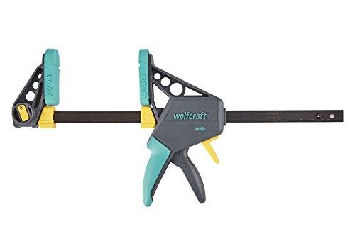 wolfcraft EHZ 100-300 Einhandzwinge PRO 3031000   Kraftvolle Zwinge zum professionellen Spannen von Werkstücken mit nur einer Hand   Spannkraft: 120 kg -...