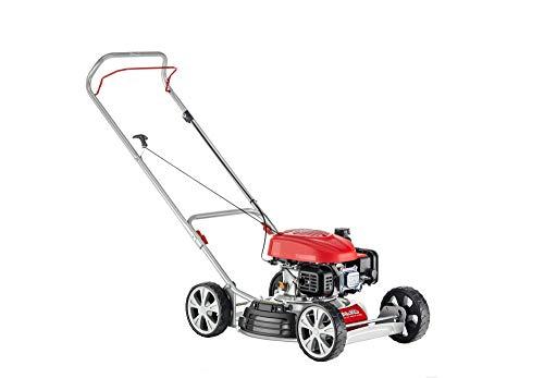 AL-KO Benzinrasenmäher 468 P-A Bio (46 cm Schnittbreite, 1.9 kW Motorleistung, Robustes Stahlblechgehäuse, Mulchrasenmäher, mit Seitenauswurf, für Rasenflächen...