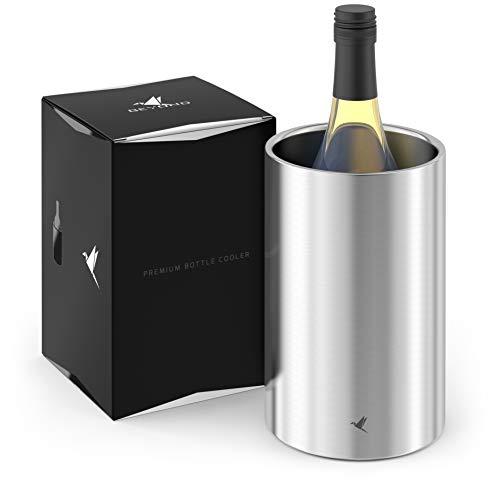 Beyond Flaschenkühler für Wein, Champagner und Sekt Flaschen I Doppelwandiger Edelstahl Sektkühler - Weinkühler, Getränkekühler ideal für Lange Outdoor...